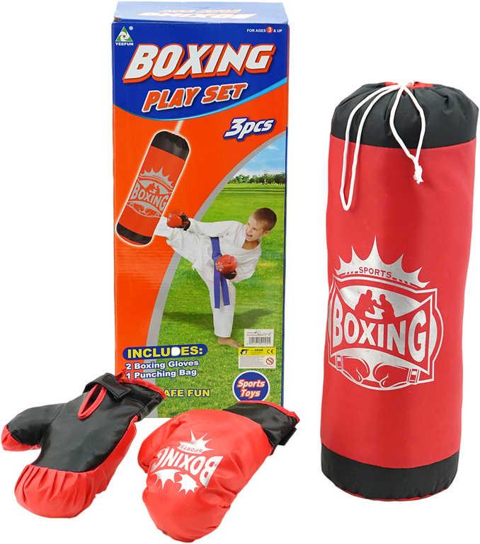 PL Sada boxovací pytel červený + 1 pár rukavic v krabici