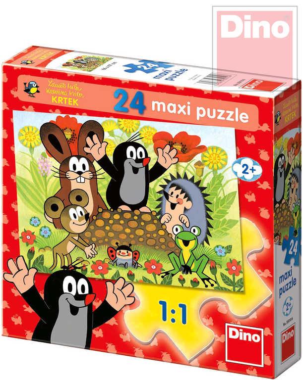 DINO Puzzle maxi 24 dílků Krtek na krtině (Krteček) 66x47cm