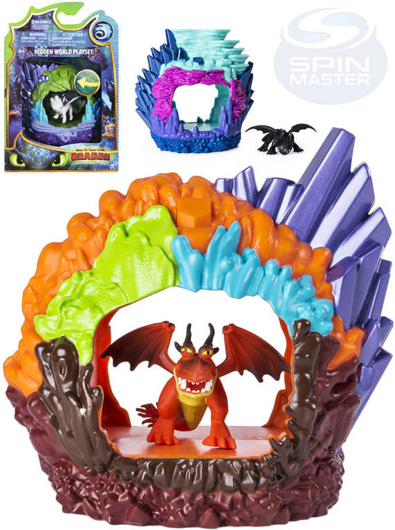 SPIN MASTER Jak vycvičit draka 3 set jeskyně s drakem na baterie Světlo