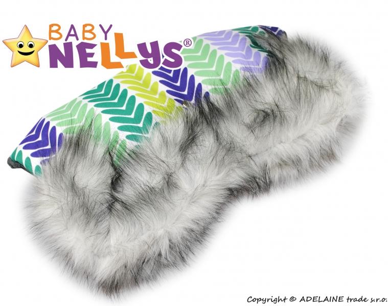 Rukávník ke kočárku s kožešinkou Baby Nellys ®LUX Eskymo - 06