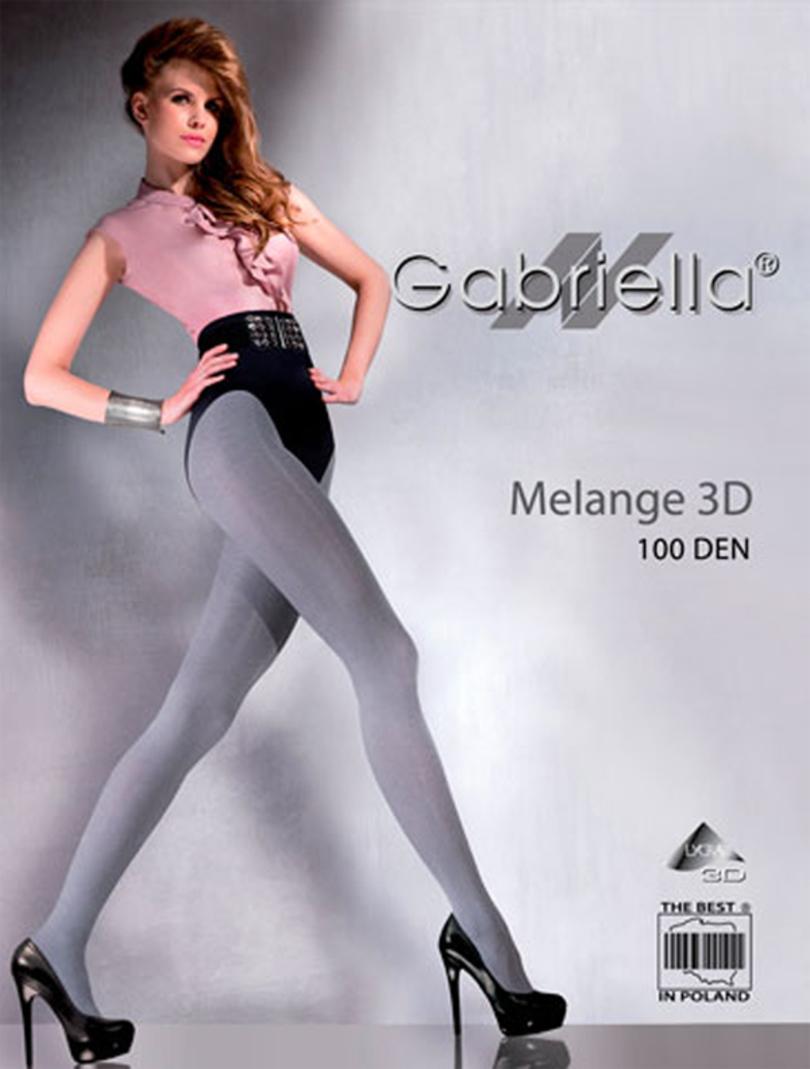 Dámské punčochové kalhoty – MELANGE 3D - GABRIELLA - Šedá žíhaná/2