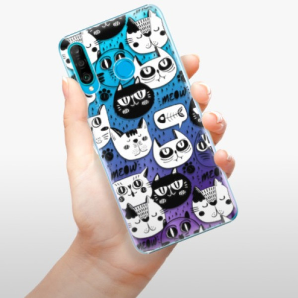 Plastové pouzdro iSaprio - Cat pattern 03 - Huawei P30 Lite