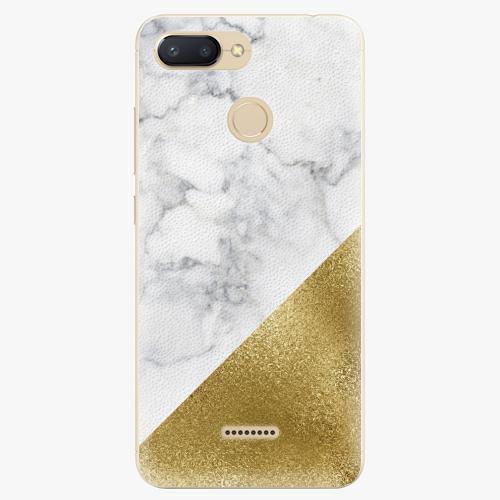 Silikonové pouzdro iSaprio - Gold and WH Marble - Xiaomi Redmi 6