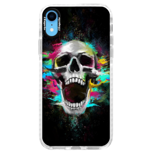 Silikonové pouzdro Bumper iSaprio - Skull in Colors - iPhone XR