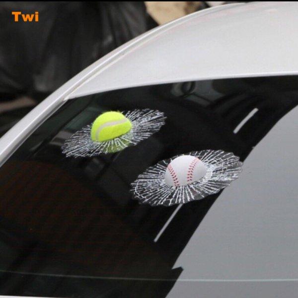 3D Samolepka na auto - rozbité sklo