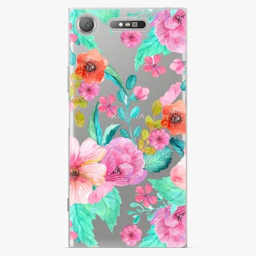 Plastový kryt iSaprio - Flower Pattern 01 - Sony Xperia XZ1