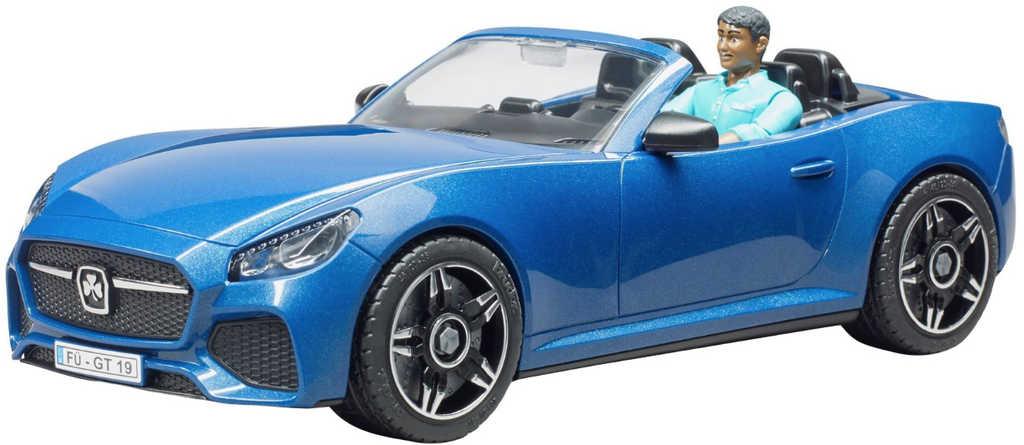 BRUDER 03481 Auto sportovní Dodge modré 1:16 set s figurkou řidiče
