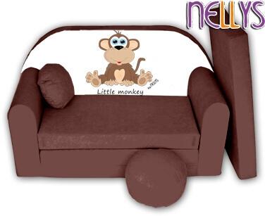 rozkladaci-detska-pohovka-little-monkey-nellys-hneda