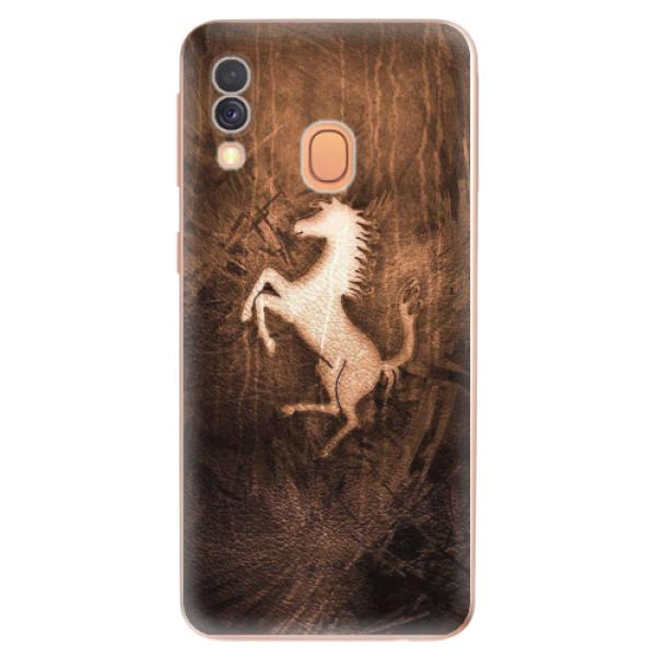Odolné silikonové pouzdro iSaprio - Vintage Horse - Samsung Galaxy A40