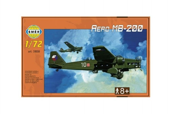 Model Aero MB-200 1:72 22,3x31,2cm v krabici 35x22x5cm
