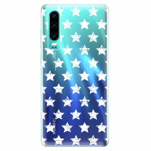 Silikonové pouzdro iSaprio - Stars Pattern - white - Huawei P30