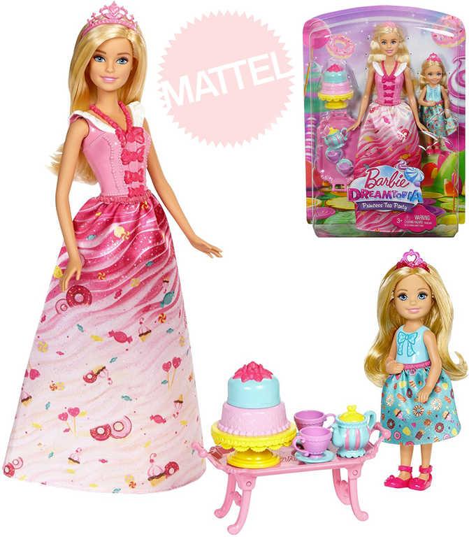 MATTEL BRB Dreamtopia Sladký čajový dýchánek set panenka Barbie + Chelsea s doplňky