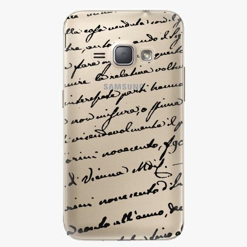 Plastový kryt iSaprio - Handwriting 01 - black - Samsung Galaxy J1 2016
