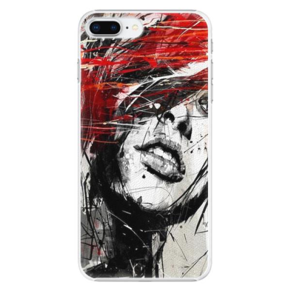 Plastové pouzdro iSaprio - Sketch Face - iPhone 8 Plus