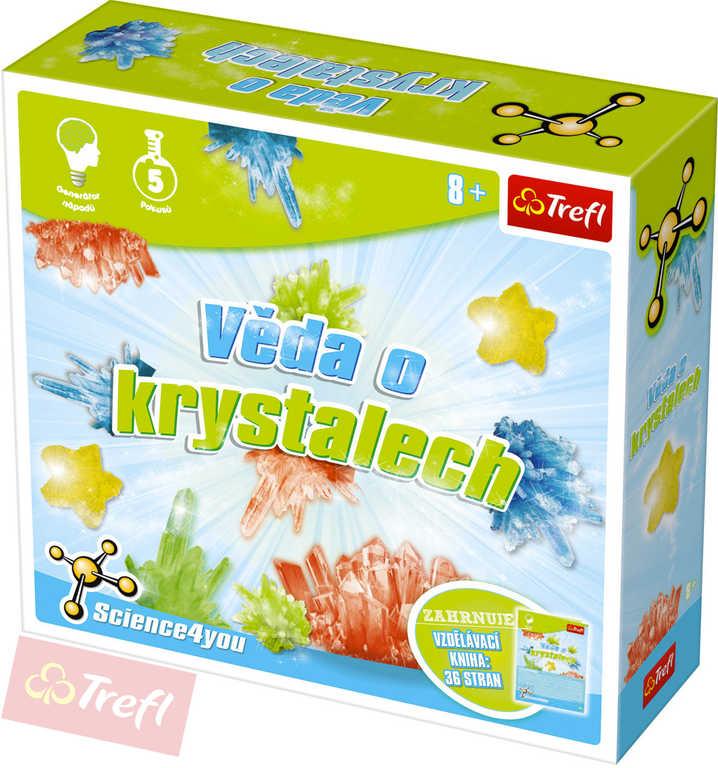 TREFL HRA Vědecká Věda o krystalech 5 pokusů Science 4 you v krabici