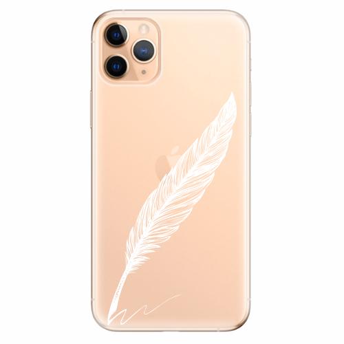 Silikonové pouzdro iSaprio - Writing By Feather - white - iPhone 11 Pro Max