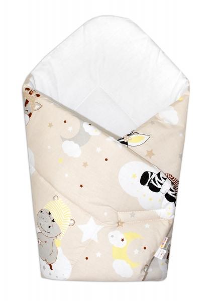 Novorozenecká zavinovačka Safari Baby - béžová