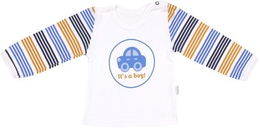 Bavlněné tričko Boy - dlouhý rukáv - 74 (6-9m)