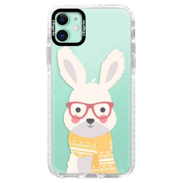Silikonové pouzdro Bumper iSaprio - Smart Rabbit - iPhone 11