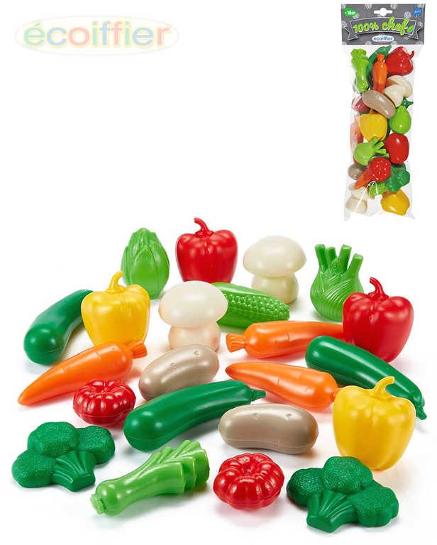 ECOIFFIER Baby zelenina plastová velká sada 22ks dětské makety potravin