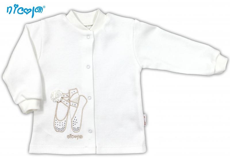Bavlněná košilka NICOL BALETKA - smetanová - 80 (9-12m)