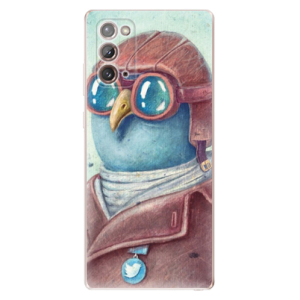 Odolné silikonové pouzdro iSaprio - Pilot twitter - Samsung Galaxy Note 20
