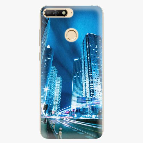 Silikonové pouzdro iSaprio - Night City Blue - Huawei Y6 Prime 2018