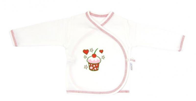 Novorozenecká košilka Mamatti - Dort třešnička - 62 (2-3m)