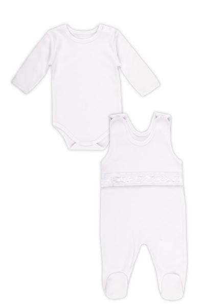 Soupravička NICOL ELEGANT BABY BOY - body dl. rukáv a dupačky - 56 (1-2m)
