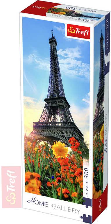 TREFL PUZZLE Foto Eiffelova věž s květinami 300 dílků 16x48cm 175000