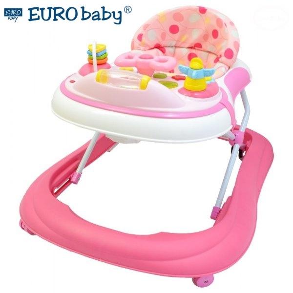 Euro Baby Multifunkční chodítko - růžové