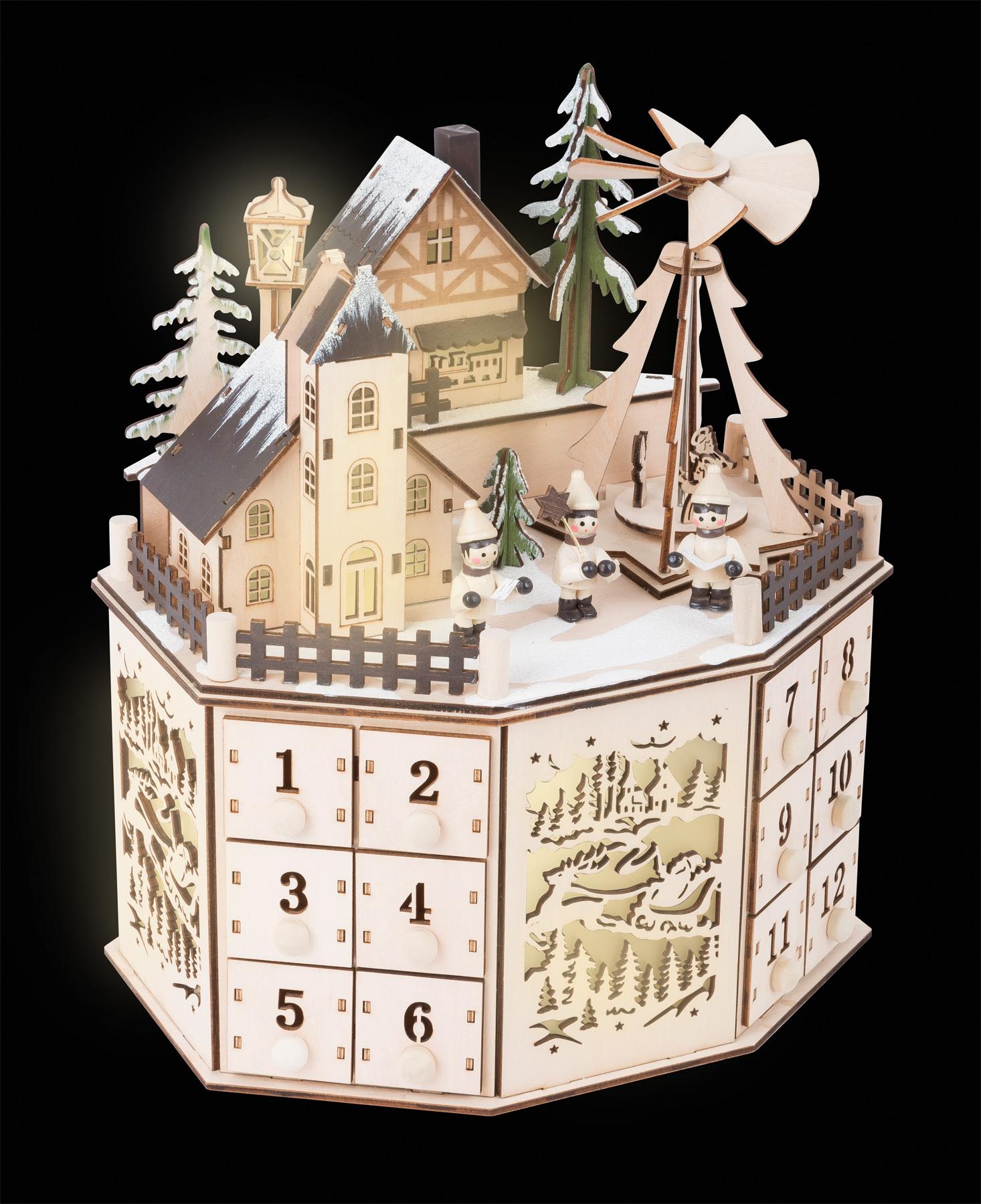 Small Foot Adventní kalendář s vánoční pyramidou