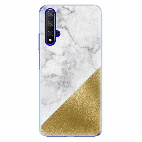 Plastový kryt iSaprio - Gold and WH Marble - Huawei Honor 20
