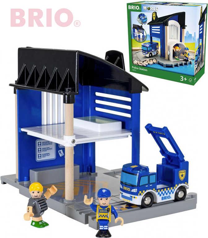 BRIO Policejní stanice set 6ks se 2 figurkami na baterie 33813