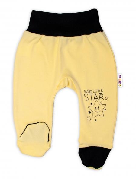 Baby Nellys Kojenecké polodupačky, žluté - Baby Little