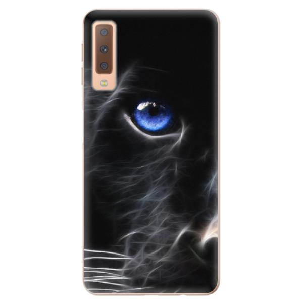 Odolné silikonové pouzdro iSaprio - Black Puma - Samsung Galaxy A7 (2018)