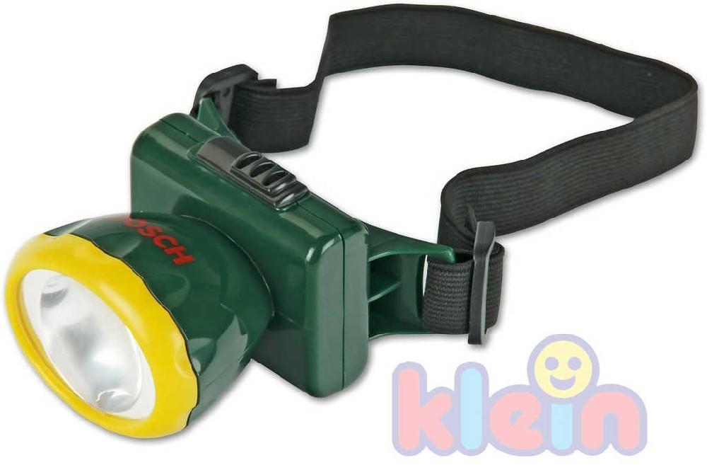 KLEIN Svítilna na hlavu dětská čelovka s popruhem na baterie BOSCH plast