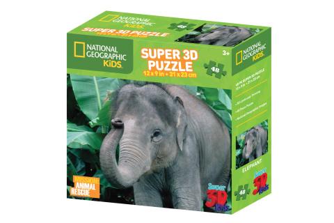 Puzzle Slon 48 dílků 3D