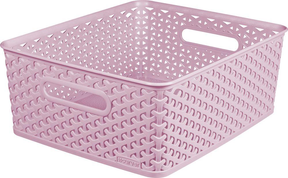 Košíček box - M - růžový CURVER
