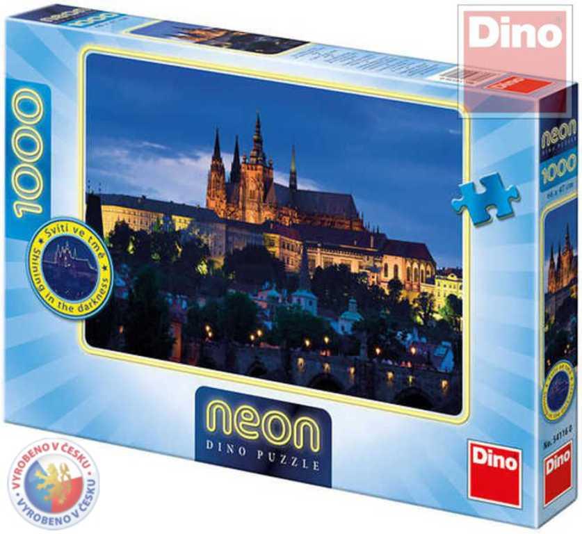 DINO Puzzle1000 dílků Praha večerní svítí ve tmě