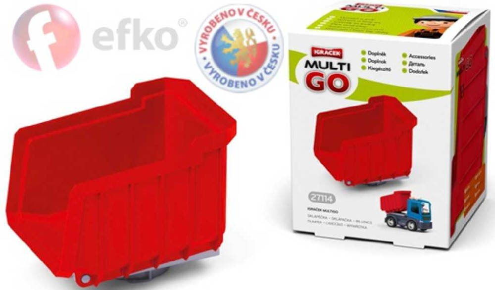 EFKO IGRÁČEK MultiGO Sklápěčka červená doplněk v krabičce