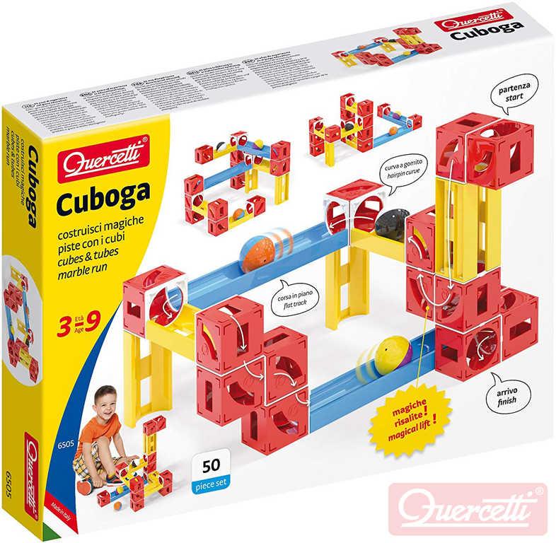 QUERCETTI Cuboga Premium kuličková dráha 50 dílků 3 kuličky STAVEBNICE