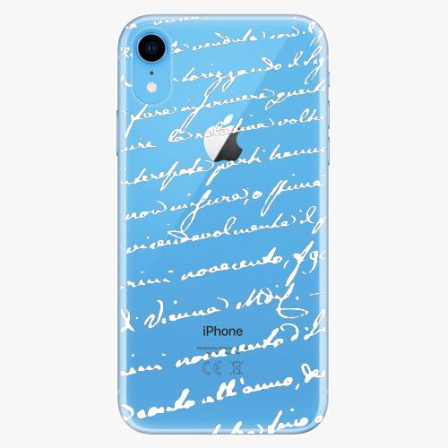 Silikonové pouzdro iSaprio - Handwriting 01 - white - iPhone XR