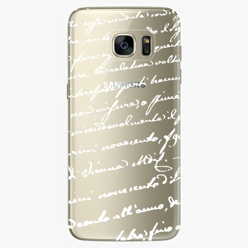 Plastový kryt iSaprio - Handwiting 01 - white - Samsung Galaxy S7