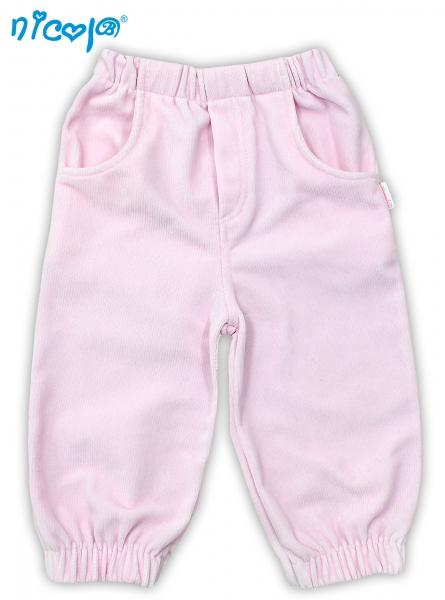 Manšestrové kalhoty NICOL LOVELY PONY - růžové - 104