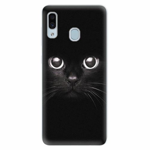 Silikonové pouzdro iSaprio - Black Cat - Samsung Galaxy A30