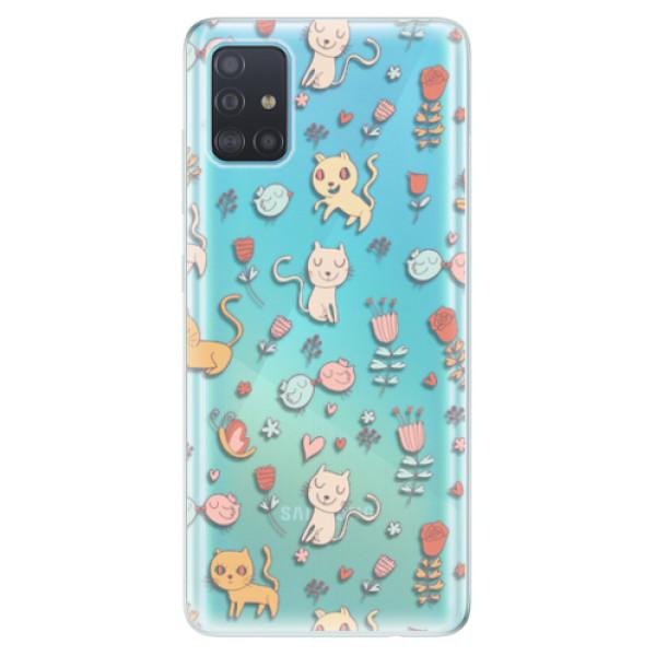 Odolné silikonové pouzdro iSaprio - Cat pattern 02 - Samsung Galaxy A51