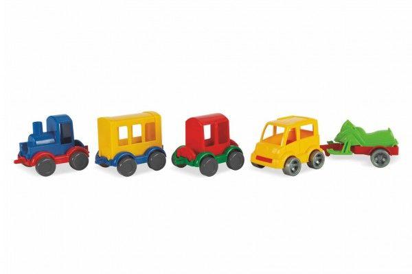 Play Tracks vlak s kolejemi plast a doplňky v krabici 12 m+