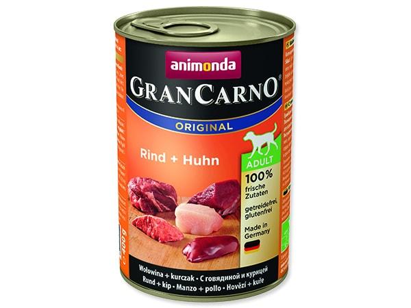 Konzerva ANIMONDA Gran Carno hovězí + kuře 400g