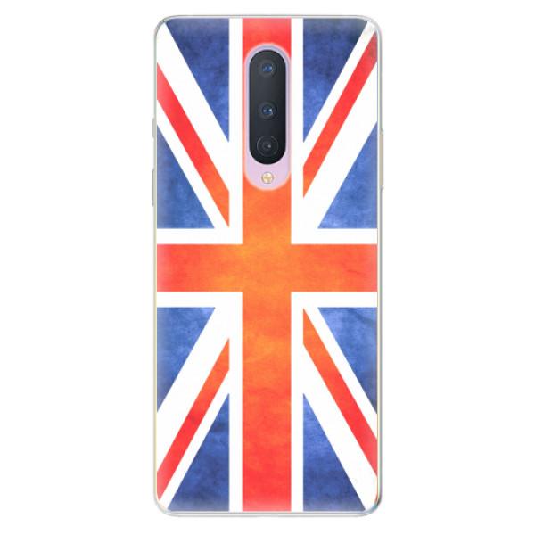 Odolné silikonové pouzdro iSaprio - UK Flag - OnePlus 8